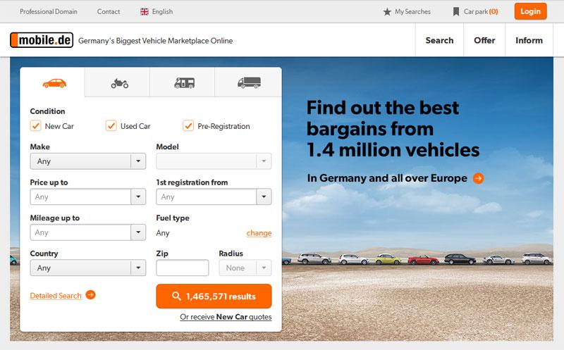 Kup auto na mobile.de